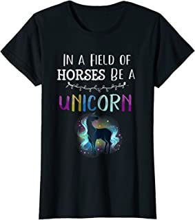 Best in a field of horses be a unicorn shirt Reviews