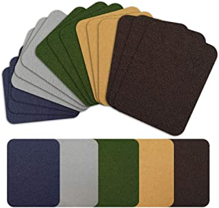 """Iron on Patches Repair Kit 20 Pieces for Fabrics Clothing Jeans,5 Colors,4.9"""" x 3.7"""""""