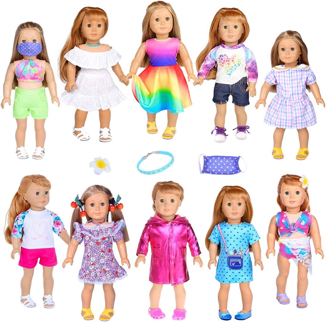iBayda 10 Long-awaited Completed Sets Doll Accessories Clothes Dress Price reduction Include