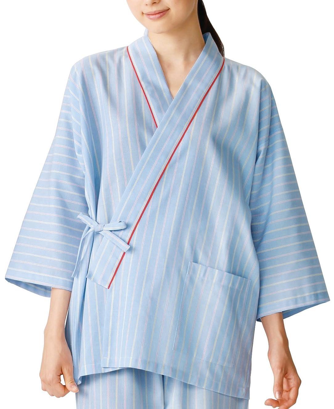 大通り子供達別れる医療/介護施設用  患者衣上衣(甚平型) KAZEN  サイズ:3L 285-98