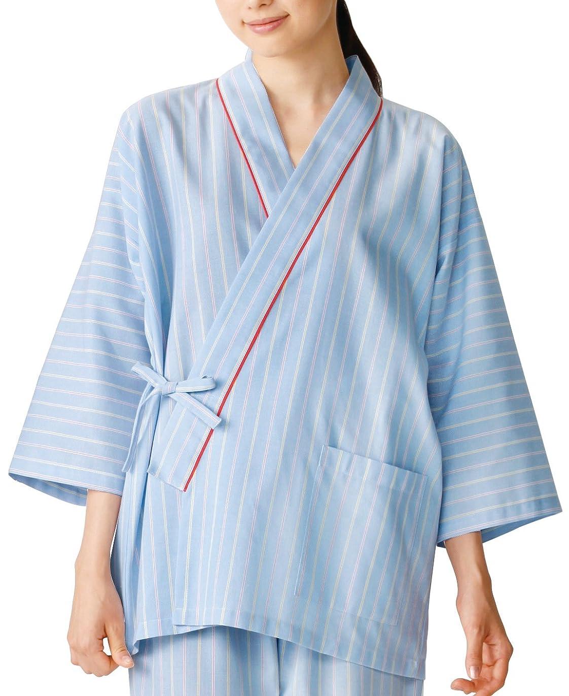 推進力ブラケット近傍医療/介護施設用  患者衣上衣(甚平型) KAZEN  サイズ:3L 285-98