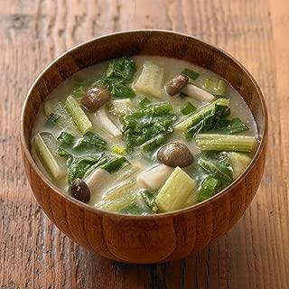 MUJI Nozawana-leaf & Mushroom Miso Soup 3 Servings Fresh Miso Japanese Food ( set of 3 )