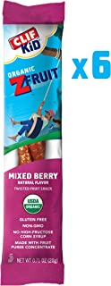 CLIF KID ZFRUIT - Organic Fruit Rope - Mixed Berry Flavor - (0.7 Ounce Rope, Lunch Box Snacks, 6 Count)