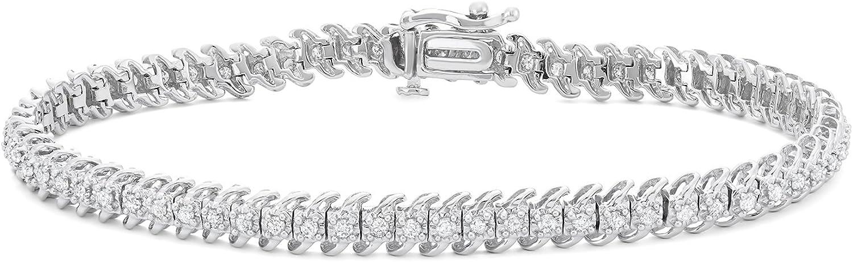 Hdiamonds 1 CTTW Diamond Tennis 10KT Bracelet Max 82% OFFer OFF in Gold