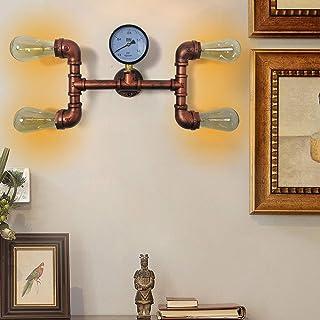Pipe À Eau Applique Murale Interieur Exterieur Industrielle Vintage Steampunk Lampe Rétro Métal Lumière pour Bar, Décorati...