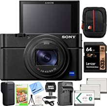 Sony Cyber-Shot RX100 VII RX100M7 Premium Compact Camera DSC-RX100M7 24-200mm Zoom Lens Essential Bundle with Triple 3X Battery Pack + 64GB Memory Card + Deco Gear Travel Case Accessory Kit