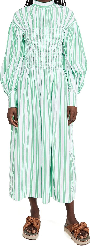 Ganni Women's Stripe Cotton Dress