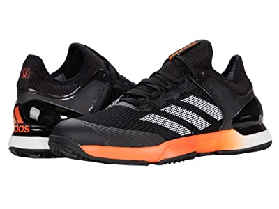 adidas adiZero Ubersonic 2 Clay (Core Black/True Orange/Footwear White) Men