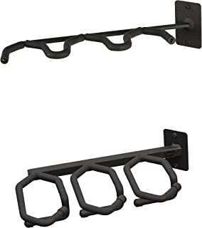 Hold Up Displays – 3 Gun Rack and Rifle Storage Holds Winchester Remington Ruger Firearms and More 45 Degree Angle- Heavy Duty Steel - Made in USA