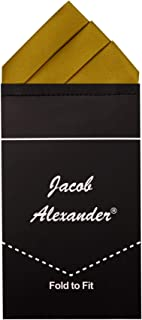 Jacob Alexander Men's Pre-Folded Triangles Pocket Square Handkerchief