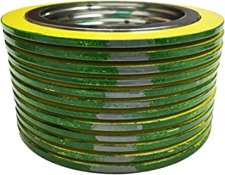 for 24 Pipe Supplied by Sur-Seal Inc Yellow with Grey Stripe Sterling Seal 9000IR24304GR600X12 304 Stainless Steel Spiral Wound Gasket with 304SS Inner Ring and Flexible Graphite Filler for 24 Pipe Pack of 12 Pressure Class 600# of NJ