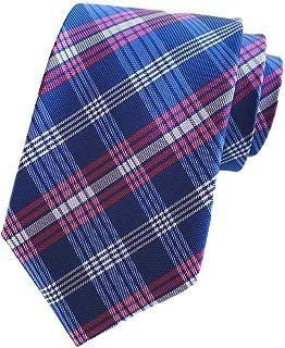 Premium Silk Men's Plaid Check Formal Tie Wedding Business 8cm Fashion Necktie ac8729