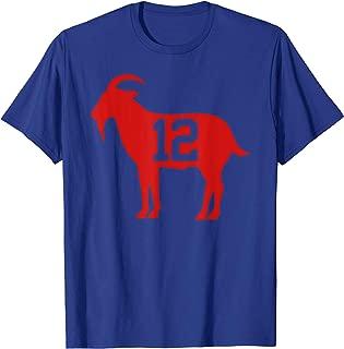 New England Football - GOAT 12 T-Shirt