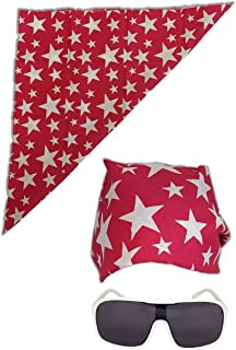 Colored Stars Bandana White Sunglasses for Macho Man Costume