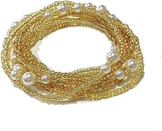 مجوهرات الجسم بخرز الخصر من ألثروري، خرزات بطن ملونة، مجوهرات خرز، سلاسل بطن وسلسلة خصر (2 قطعة)