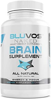Brain Supplement/Nootropic Supplement 30 Capsules - Boost Energy, Focus & Brain Function - Concentration Pills | Vegan Non GMO | for Men and Women