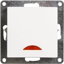 Wolfgo Lichtschalter-AC 250V 10A Inline EIN//AUS Tisch Schreibtischlampe Kabel Kabelschalter mit LED Kontrollleuchte Schwarz