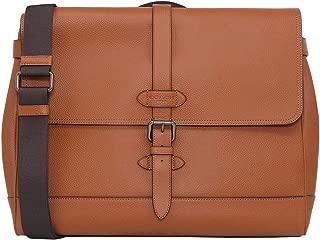Men's Hudson Leather Messenger Tote Briefcase - #F36810 - Saddle