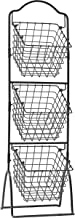 Gourmet Basics by Mikasa 3-Tier Metal Market Basket, Antique Black