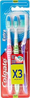 Colgate Toothbrush Extra Clean Medium 3 Pack Value Pack, Assorted color