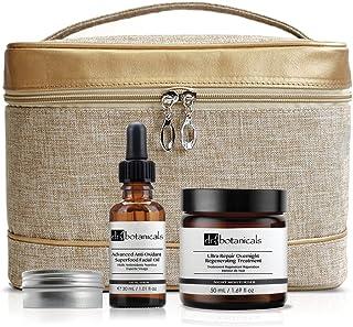 Dr Botanicals Bag Set Anti-Oxidant Superfood Facial Oil, Overnight Regenerating Treatment, Healing Lip Complex, 400 Gram
