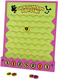 Fun Express Halloween Disk Drop Game (8 Piece Set) Halloween Party Games