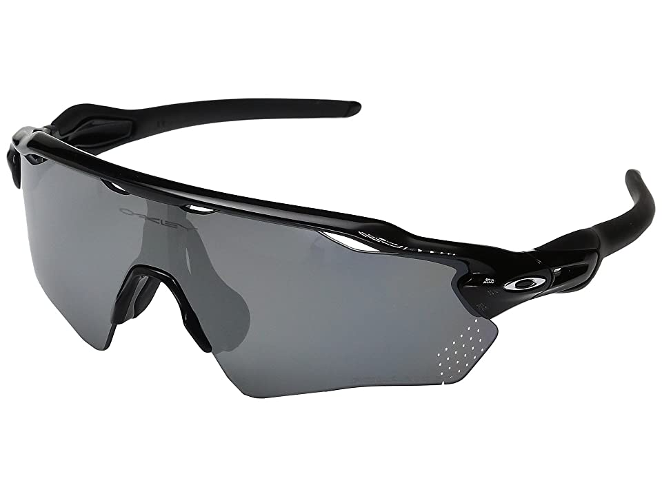 Oakley Radar EV XS Path (Youth Fit) (Polished Black w/ Black Iridium Polarized) Fashion Sunglasses