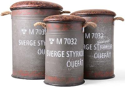 ドラム缶 チェア ダメージ加工 3サイズセット 収納 ビンテージ