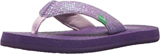 Sanuk Kids Girls' Yoga Glitter Flip Flop
