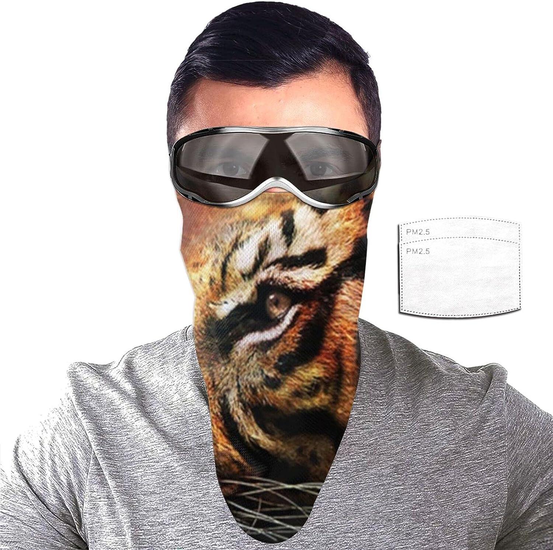 ZORIN Máscara de protección solar con 2 filtros para el cuello, diseño de estrella azul tigre