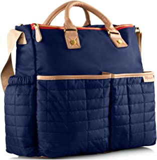 Designer Diaper Bag, by Maman With Matching Changing Pad- PATENTED