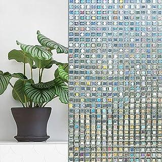 TAOYUE 45 * 100 cm mosaico bloque de vidrio pegatina etiqueta de la pared baño sala de estar decoración del hogar etiqueta de la ventana