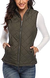 Amazon.co.uk: Women's Gilets - Green / Gilets / Coats, Jackets & Gilets:  Clothing