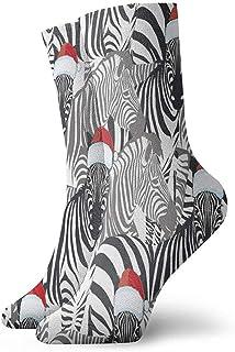 Dydan Tne, Calcetines navideños de Cebra Calcetines Divertidos Calcetines Locos Calcetines Casuales para niñas Niños