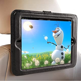 Inndise iPad Air Headrest Mount For Car- iPad Air and Air 2 - Holder in Car Will Keep the iPad Secure Within A Strong PU Leather Case. Safest iPad Car Mount