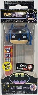 Funko Pop! Pez: DC Super Heroes - Batman gris (gamer) brilla en la oscuridad exclusivo