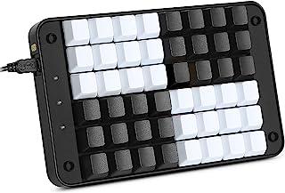 Koolertron Single-Handed Programmable Mechanical Keyboard with OEM Gateron Red Switch,All 48 Programmable Keys Tools Keypa...