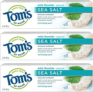 Sponsored Ad - Tom's of Maine Sea Salt Natural Toothpaste, Whitening Toothpaste, Natural Toothpaste, Refreshing Mint, 4.7 ...