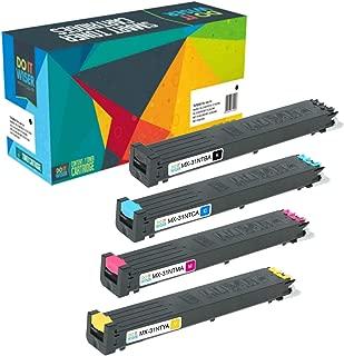 Do it Wiser Compatible Toner Cartridge Replacement for Sharp MX-2600N, MX-3100N, MX-4101N, MX-5001N, MX-4100N Printers - MX31NTBA, MX31NTCA, MX31NTMA, MX31NTYA (4-Pack)