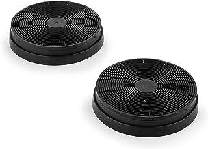 Klarstein Aktivkohlefilter für Dunstabzugshauben Ersatzteil, 2 Filter, 17,5 cm Durchmesser schwarz