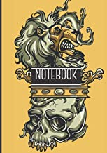 Notebook: Lion And Skull Cover - Halloween Gift For Adults - Halloween Notebook - scary gits to offer - Lined Halloween No...