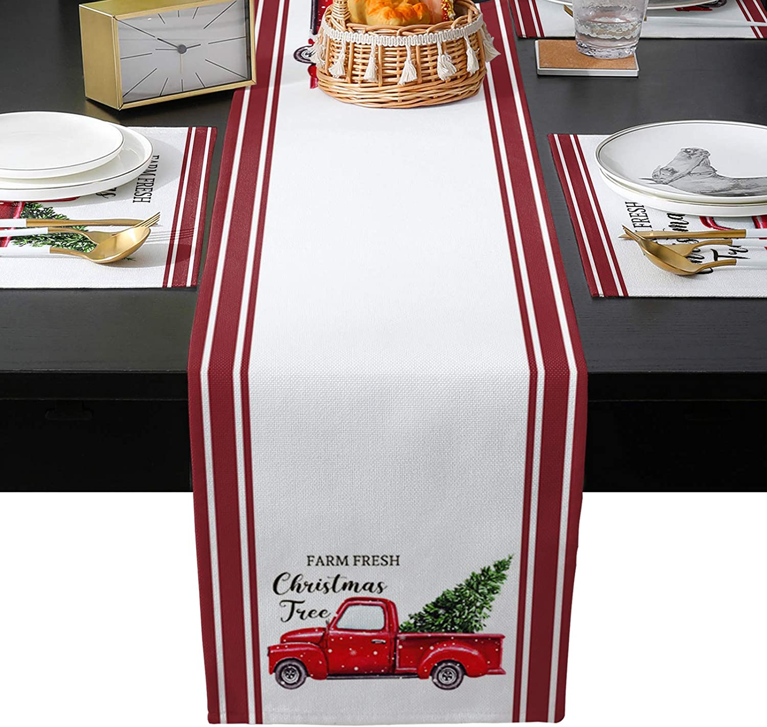 EZON-CH 6 Piece Table Mats Dresser and Scarves Chr Runner 5% OFFer OFF