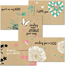 Thinking of You Kraft Greeting Card Value Pack - Set of 20 (5 designs), Large 5