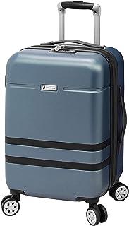 London Fog Southbury II Hardside Spinner Luggage, slate blue, Carry-On 20-Inch