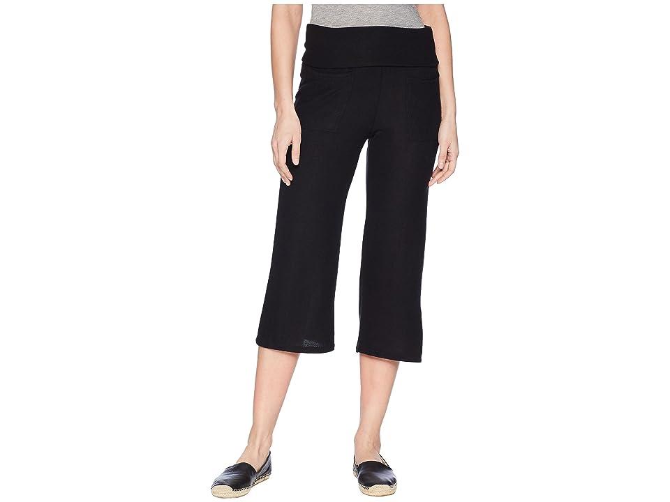 Splendid Studio Warm Up Crop Pants (Black) Women