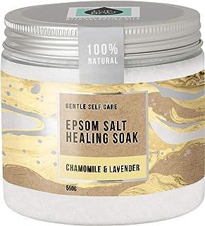 The Salt Box - Natural Epsom Salt Healing Bath Salts Soak - Chamomile & Lavender - 550g