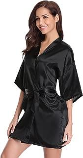 Best satin kimono short robe Reviews
