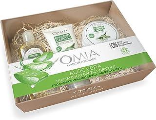 Omia - Beauty Box Capelli Aloe Vera, Confezione Regalo con Shampoo, Balsamo e Maschera, Nutriente e Idratante, Dematologic...