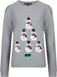 62bd650bb79ac Noël Pour Femmes Pull Noël Elfe Nouveauté Santa Femmes Sequin Pull Tricot