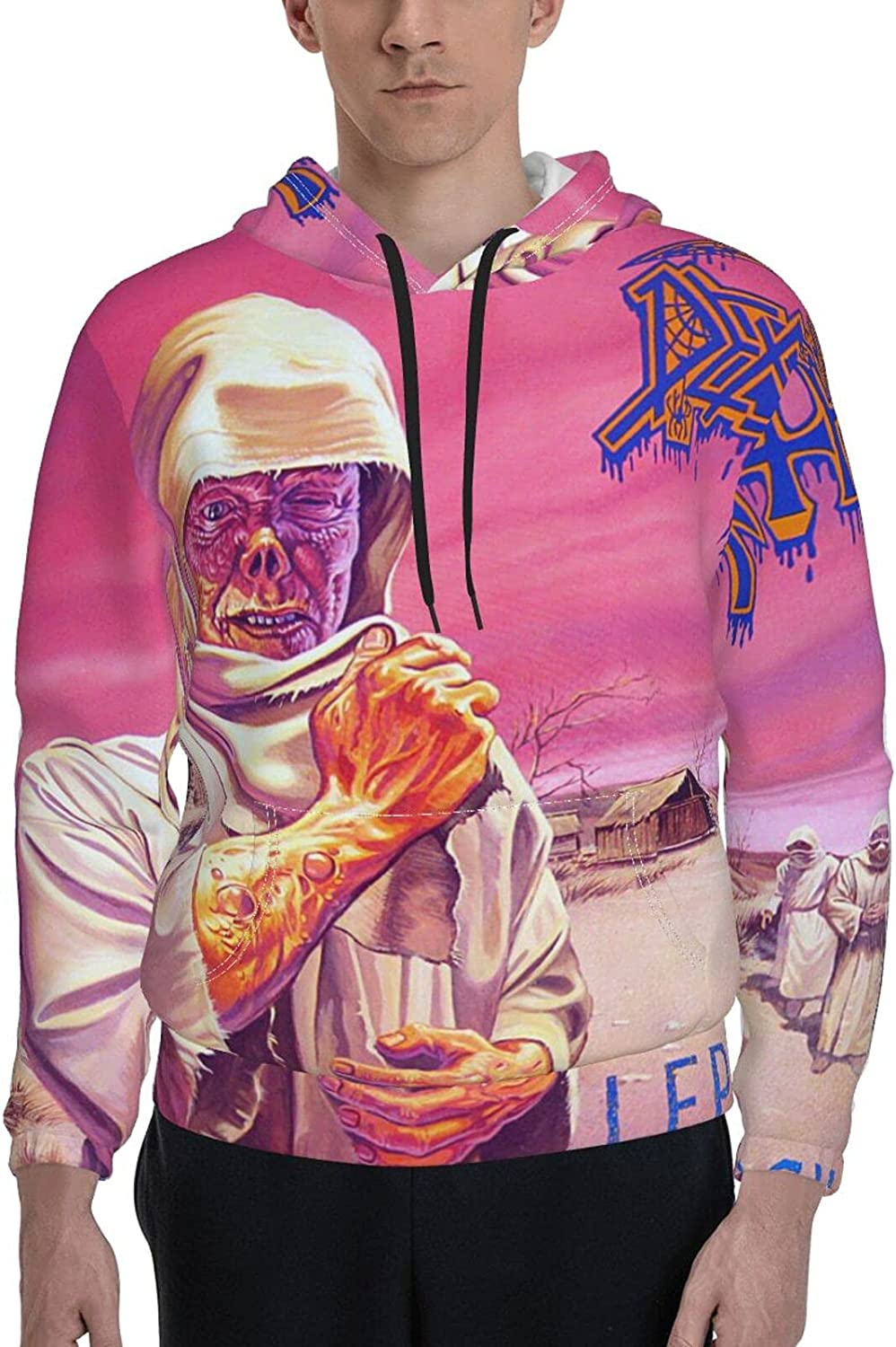 Death Kansas City Mall Band Leprosy Max 68% OFF Pullover Mens Sleeve Un Sweatshirt Long Funny